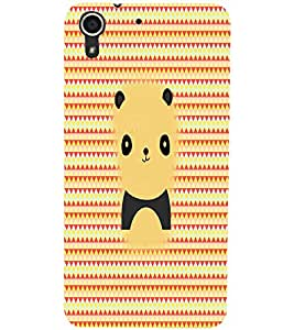 PrintDhaba Cartoon D-5061 Back Case Cover for HTC DESIRE 728 (Multi-Coloured)