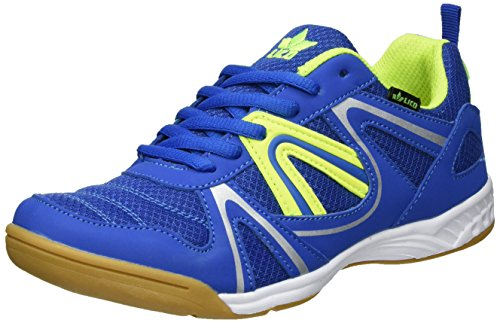 Lico Herren Fit Indoor Hallenschuhe BLAU/Lemon, 46 EU