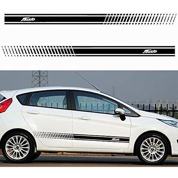 Zyfaozhou 2 Stücke Auto Aufkleber Stilvolle Streifen Auto Körper Aufkleber Vinyl Aufkleber Aufkleber Körper Aufkleber Für Ford Fiesta Car Styling Auto