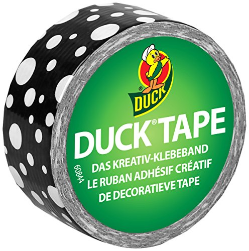 Duck Tape 221735 Gewebeband, 19 mm x 4,5 m, Duckling Mod Dots