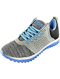 BRiiX Women Grey And Sky Blue Mesh Sports Running/Walking/Training And Gym Shoes