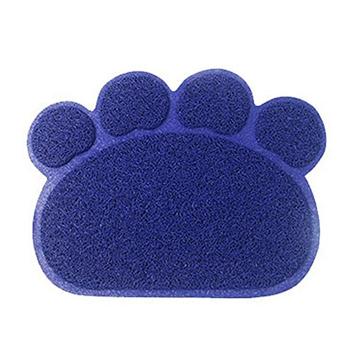 Alfombra fuente de alimentación para mascotas, KEEDA alfombra de suelo de plástico plegable para cubeta, alfombra de suelo impermeable para puerta de cocina, Placemat de agua alimentos, forma cuadrada, 45X60cm