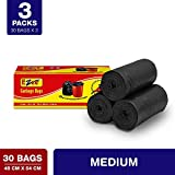 Ezee Garbage Bag - 19x21 inches (Pack of 3, 90 Pieces, Small)