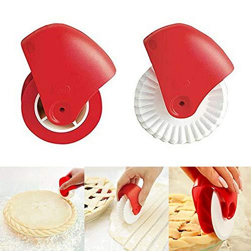 Pastry Wheel Cutter (Alftek Pastry Wheel Decorator Cutter für Pie Crust Pasta Blätterteig Fondant)