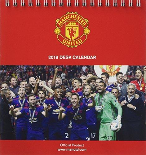 Manchester United F.C. Official Desk Easel 2018 Calendar – Month To View Desk Format (Desk Easel Calendar 2018)