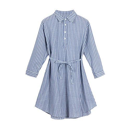 LEXUPE Mode gestreiften Kleid Futter Kleid für Schwangere Mutterschaft Frauen Kleidung(Blau,XXX-Large) - Frauen Designer-kleidung