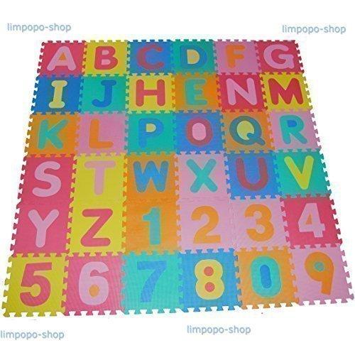 86Tlg Giocare Mat Puzzle Tappeto Gioco Schiuma Bambini