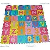 86 pieza Mat Alfombra Mat Niño Mat Carta juego estera Puzzle (26 letras + 10 dígitos) 36 esteras