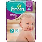 Pampers Premium Protection Active Fit Taille 5 (Junior) 11–25 kg Spar Pack, 23 Couches (4 x 23 pièces)