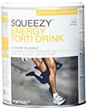 Squeezy Sports Nutrition Energy Forti Drink, Zitrone, 400 g Dose, Pulver mit Kollagenhydrolysat