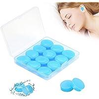 Gel Ohrstöpsel zum Schlafen, 6 Paare Weiche Wiederverwendbare Silikon Ohrstöpsel, Erwachsene Geräuschunterdrückender…