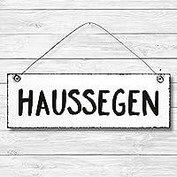 Haussegen - Dekoschild Türschild Wandschild Holz Deko Schild 10x30cm Holzdeko Holzbild Deko Schild Geschenk Mitbringsel Geburtstag Hochzeit Weihnachten