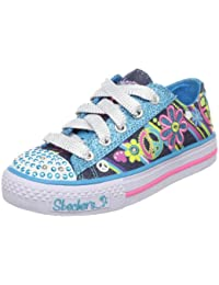 Skechers Shuffles Clitter - Zapatillas de lona para niña