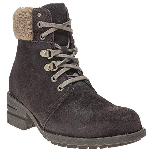 Caterpillar Womens Cora Fur Durable Leather Ankle Boots