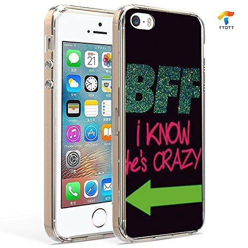 Apple iPhone 5/5S/5C/5Se cas, ttott amoureux ou Best Friend cas, FIN Bumper de protection anti-griffes élégant imprimé Patterns Coque pour iPhone 5/5S/5Se, 5/5S/SE-1, iphone 5/5s/se 5/5S/SE-2