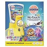 Sagrotan No-Touch Kids Automatischer Seifenspender – Inkl. Sagrotan Nachfüller Entdeckerpower Aloe Vera und Sticker – 1 x 250 ml Flüssigseife