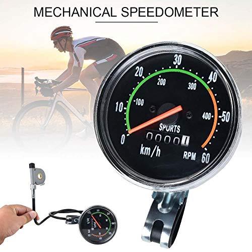 starter Vintage Style Fahrrad Tacho Analog Mechanischer Kilometerzähler Mit Hardware Für Exercycle & Bike