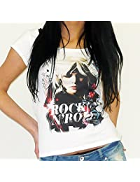 Rock : T-shirt imprimé visage rock and roll