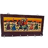 DS Handicraft Wooden Key Holder - Brown