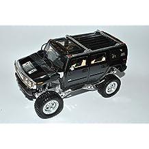 Hummer H2 SUV Schwarz Höher Gelegt 1/24 Jada Modell Auto mit oder ohne individiuellem Wunschkennzeichen