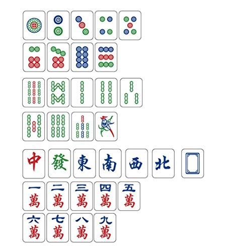 Lyy daily necessities Chinesische Mahjong, 3 cm, tragbares Reise-Mahjong-Set mit 144 Fliesen, chinesische traditionelle Klassische Kultur, Exquisite Mahjong-Fliesen für Freizeit, Reise, Party.