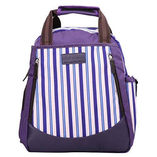 Preisvergleich Produktbild Eshow Nylon Wickeltasche Mummy Bag Mama Tasche Baby Handtasche Umhängetasche Multifunktional wasserdicht, Lila