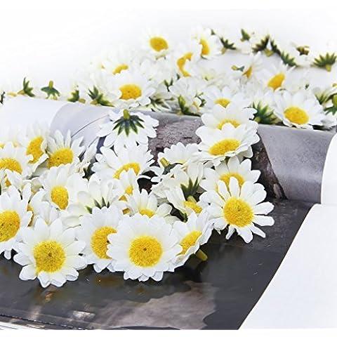 kingtoys® 100x Artificiale Daisy Fiori Piante Fiori per la cerimonia nuziale per la decorazione domestica