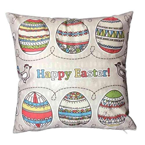 Jamicy Pasqua Festival divano-letto casa decorativo Ultra-velluto 45cm * 45 centimetri federa A