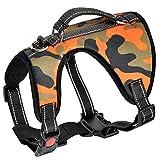 Lantra Besa 2 Gebrauchsweisen Hunde Weste Harness Hundegeschirr - für alle Größen und Jahreszeiten - Verstellbar Reflektierend und Gepolstert Typ 3 - Camouflage, M