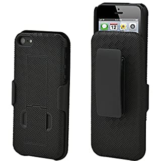 Aduro Shell Holster Combo Case for Apple iPhone 5 / 5S with Kick-Stand & Belt Clip