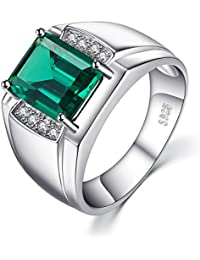 Amazon emerald rings men jewellery jewelrypalace men luxury 27ct simulated nano russian emerald anniversary wedding ring genuine 925 sterling sliver aloadofball Image collections