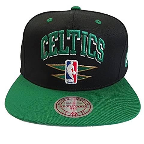 Casquette Double Diamond Boston Celtics noir-vert MITCHELL & NESS - Ajustable