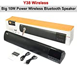 #10: Y38 10W Power Portable Wireless Bluetooth Speaker Mini Stereo Audio Sound With Microphone Speakers for Mobile Phone Tablet Laptop