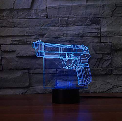 t Form Leuchte 3D Film Gebäude Tischlampe Led Visuelle Atmosphäre Wohnkultur Touch Schalter Nachtlicht ()