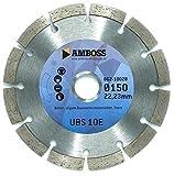 Amboss UBS 10E - Diamant-Trennscheibe Ø 150 mm x 22,2 mm - Beton / Baustellenmaterialien / Stein | Segmenthöhe: 7 mm (gesintert)