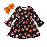 Halloween Outfits für Kinder Babys Kürbis-Print Kield