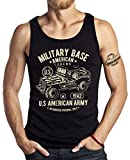 GASOLINE BANDIT US-Army Military Tank Top: American Legend für den Jeep Fan-L