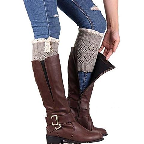 Vovotrade Calcetines de tejer - calentadores de la pierna de la cubierta de arranque