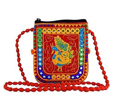 Reborn Women's Ethnic Purse - Ladies Wallet-28-F-Red-Multicolor