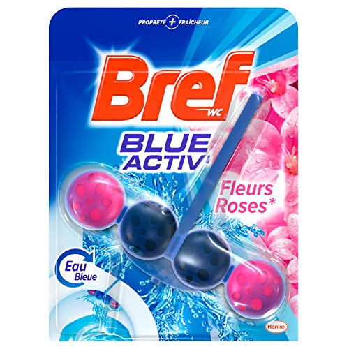 Bref Blue Activ' Fleurs Roses Blocs Nettoyants WC