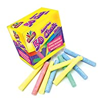 Art Box Chalks - Assorted Colours (Pack of 50)