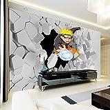YBSBH Papier Peint Mural Auto-Adhésif (W) 200X (H) 150Cm Peinture Murale Japonaise D'Anime 3D Naruto Photo Fond D'Écran Garçons Enfants Chambre De Bande Dessinée Papier Peint Maison Grand Art Décora