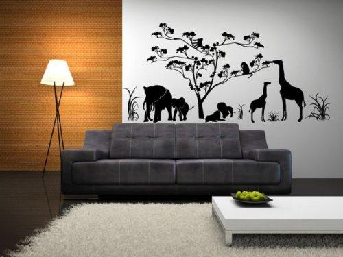 Dalinda Wandtattoo Afrika Nr. D116 Wandgestaltung schwarz