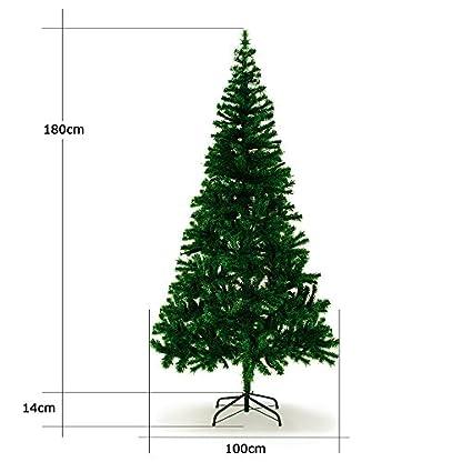 Árboles de Navidad de plástico desde 140cm hasta 240cm, forma de abeto
