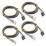 UEETEK Motor Kabel 1M Drucker Schrittmoto Kabel / 4Pin NEMA 17 Anschlusskabel 4 PCS