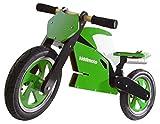 kiddimoto 117 SUPERBIKE green/white, Laufrad im Motorrad Design