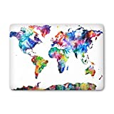 "Caroki Stickers Macbook Autocollant, New Art Amovible décalque de Vinyle Super Mince Autocollants Amovibles Skin Stickers pour Apple Macbook Air 13""(A1369/A1466)-Carte du Monde Coloré"