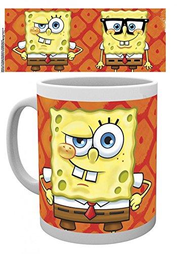 1art1 Set: Spongebob Schwammkopf, Faces Foto-Tasse Kaffeetasse (9x8 cm) Inklusive 1x...