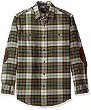 Pendleton Herren Long Sleeve Button Front Hawthorne Flannel Shirt Button Down Hemd - weiß -