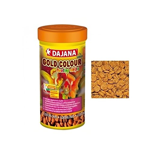 Dajana Gold Colour Floating Chips 100 ml - Aliment de base pour une meilleure coloration des carassi dorés et des Ciprini dorés